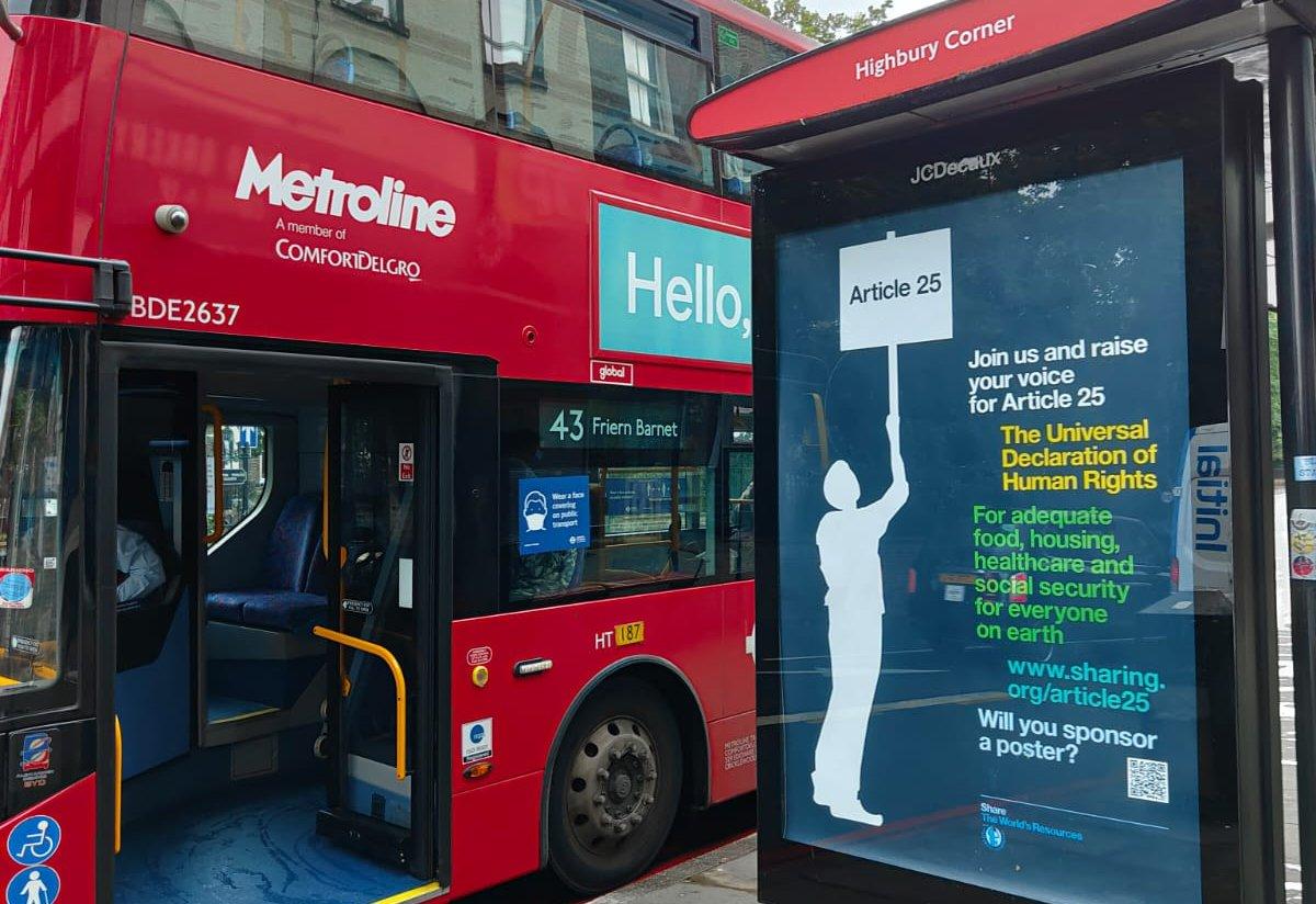 Article 25 billboard campaign 2021