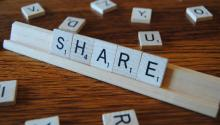 Share in scrabble letters - Image credit: Flickr creative commons